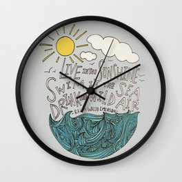 Emerson: Live in the Sunshine Wall Clock