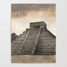 Mayan pyramid - Mexico Poster