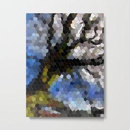 Tree mosaic tile Metal Print