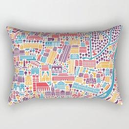 Munich City Map Poster Rectangular Pillow