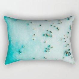 Aerial Beach Print, Beach Photography, Aerial Photography, Blue Ocean Print, Beach Print, Ocean Print, Ocean Waves, Beach Art, Home Decor Rectangular Pillow