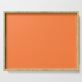 From The Crayon Box – Mango Tango - Bright Orange Solid Color Serving Tray