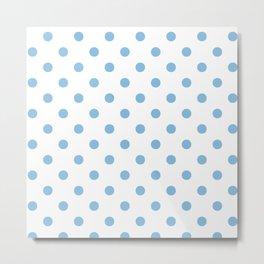 Blue and white polka dot pattern Metal Print