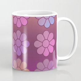 Multi Coloured Symmetrical Flower Pattern with Gradients Coffee Mug