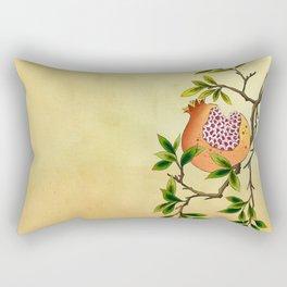 Minhwa: Branch of Pomegranate Rectangular Pillow