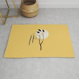 WABI-SABI Warm Colors Simple Illustration  Rug