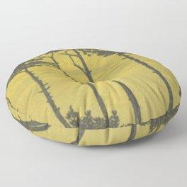 Art Nouveau Pines Floor Pillow