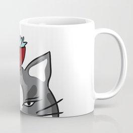 Happy Tuna Bowl Cat Coffee Mug