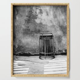 Still life in black and white | Street photography print Serving Tray