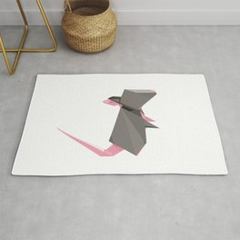 Origami Mouse Rug