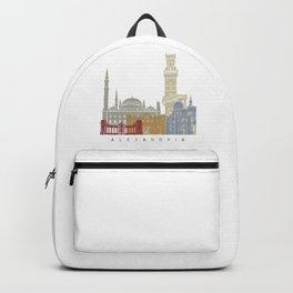 Alexandria skyline poster Backpack