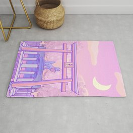 japanese pastel kitsune shrine Rug
