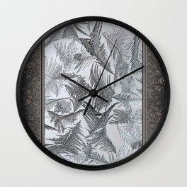 Window Frost Wall Clock