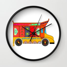 Truck Art Wall Clock