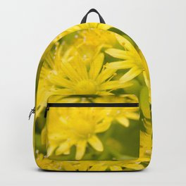 Dreamy Spiral Yellow Flowers Backpack