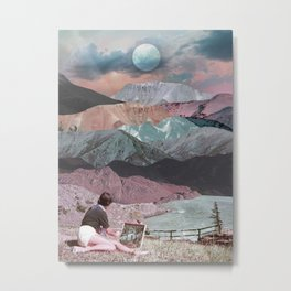 Painting in the mountains Metal Print