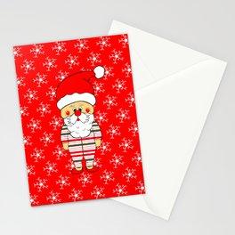 Santa PJs Stationery Cards