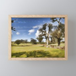 Winter Clouds Framed Mini Art Print