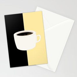 Yellow Coffee Stationery Cards