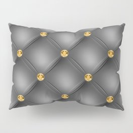 Luxury Tufted Gold Diamond 3 Pillow Sham