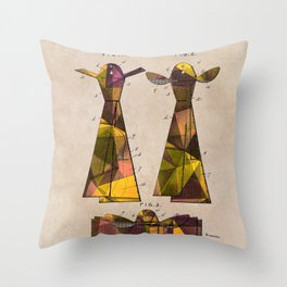 patent Tie - 1902 - Glahn Throw Pillow
