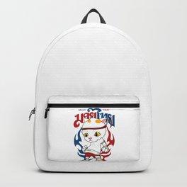 Muay Thai Cat Backpack