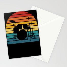 Drummer vintage drums drumstick Stationery Cards