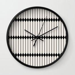 Minimal Geometric Pattern - Black Wall Clock
