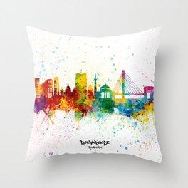 Bucharest Romania Skyline Throw Pillow