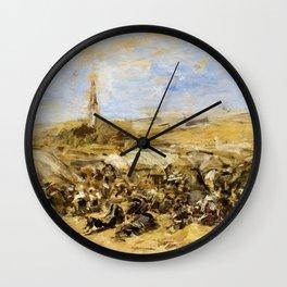 Eugene Louis Boudin - Pardon Of Ste-anne-la-palud - Digital Remastered Edition Wall Clock