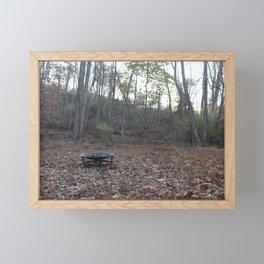 Fall Firepit Framed Mini Art Print