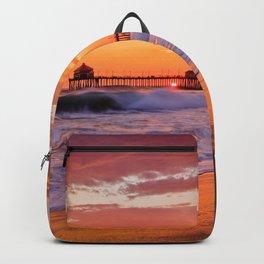 Monsoon Sunset / Huntington Beach Pier  9/9/15 Backpack