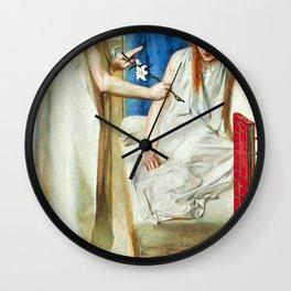 The Annunciation - Dante Gabriel Rossetti Wall Clock