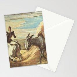 Honore Daumier - Don Quichotte et Sancho Panca dans les montagnes Stationery Cards