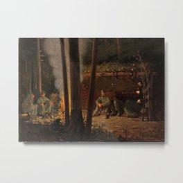 In Front of Yorktown by Winslow Ho mer (1862-63) Metal Print