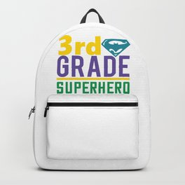 3Rd Grade Superhero - Funny School humor - Cute typography - Lovely kid quotes illustration Backpack