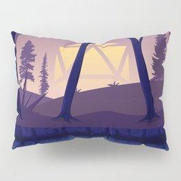 Blue Hour Sunset Forest D20 Dice Sun Tabletop RPG Landscape Pillow Sham
