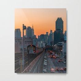 New York City Subway, Sunnyside Queens Metal Print