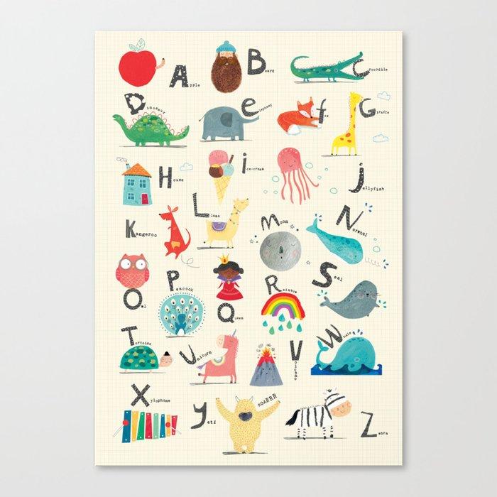 Animal Alphabet Leinwanddruck