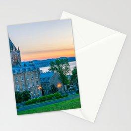 Quebec City Sunset Print Stationery Cards