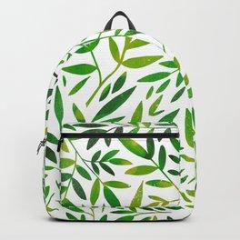 Green leaf botanical pattern Backpack