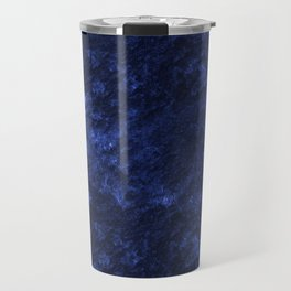 Royal blue navy velvet Travel Mug