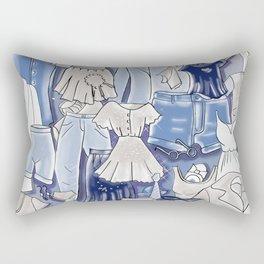 GREY CLOTHES Rectangular Pillow