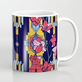 Art Deco Lily Floral Architectural Design Coffee Mug
