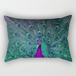 BLOOMING PEACOCK Rectangular Pillow