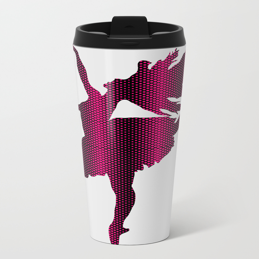 Pink Dotted Ballerina Travel Cup TRM7766170