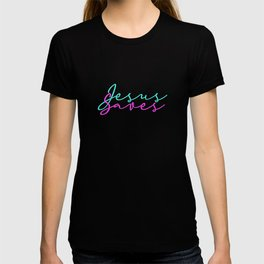 Jesus Saves Turquoise And Pink Faith Love Hope T-shirt