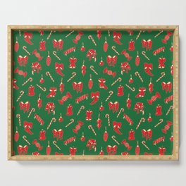Winter Holidays Christmas Pattern Serving Tray