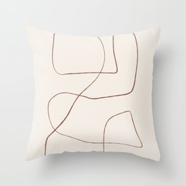 Bento - Abstract Line Drawing Throw Pillow