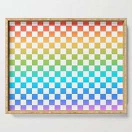 Rainbow Checkerboard Serving Tray